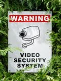 Cctv signboard Stock Image