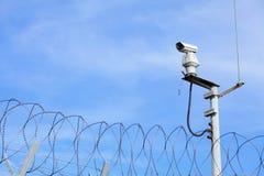 CCTV sobre o elo de corrente foto de stock