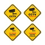 CCTV street signs. CCTV signs suitable for street signs Royalty Free Stock Photography