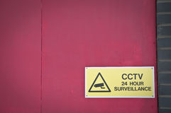 CCTV surveillance. Sign in UK Royalty Free Stock Photography