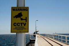CCTV Surveillance Area. On Jetty stock photos