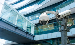 CCTV or surveillance camera. CCTV or surveillance operating in office building Royalty Free Stock Photography