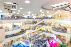 CCTV or surveillance camera. CCTV or surveillance camera  recording inside the shopping mall to the various internal security Stock Photos