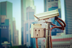 CCTV surveillance camera in Singapore Royalty Free Stock Image