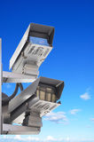 CCTV or surveillance cameras Royalty Free Stock Images