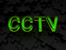 CCTV surveillance. Computer generated image (3d render Royalty Free Stock Photos