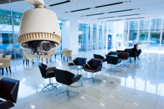 CCTV or surveillance operating Royalty Free Stock Image