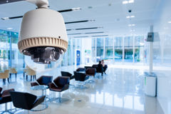 CCTV or surveillance operating. In office building Royalty Free Stock Photo