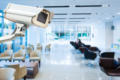CCTV or surveillance operating. In office building Stock Image
