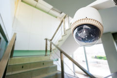 CCTV or surveillance operating. In office building Stock Photography