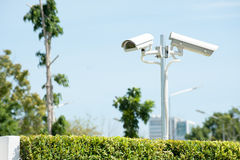 CCTV or surveillance operating. Security concept Stock Photography