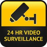 CCTV symbol, web button. Warning Sticker for Security Alarm CCTV Camera Surveillance Stock Photo