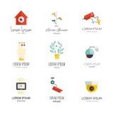 Cctv-symboler royaltyfri illustrationer