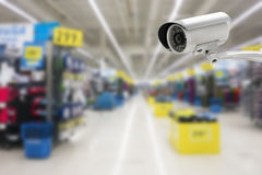 CCTV system security in the shopping mall Royalty Free Stock Photography