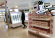 CCTV system in shop Stock Photography