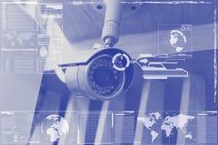 CCTV technology on screen display Stock Image
