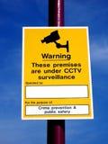 cctv-tecken Royaltyfri Fotografi