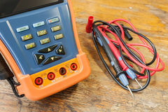 CCTV tester with probes on a table in a workshop Stock Image