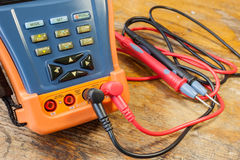 CCTV tester with probes on a table in a workshop Stock Images