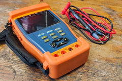 CCTV tester with probes on a table in a workshop Royalty Free Stock Photography