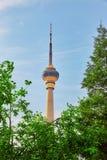 Cctv-torn, i Peking, Kina Arkivbilder