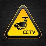 Cctv-triangelsymbol Arkivfoton