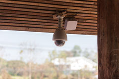 CCTV under house roof Royalty Free Stock Photos