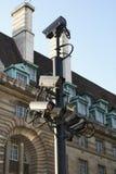 Cctv Video bevakning säkerhet för kameracopyspace alldeles Royaltyfri Foto
