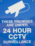 Cctv video surveillance. Sign saying that a premises and/or the surrounding area is under 24 hour video surveillance or so called cctv Stock Photography