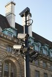 CCTV. Video surveillance. Security cameras Royalty Free Stock Photo