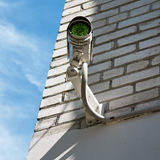 CCTV on the wall. CCTV on the brick wall Royalty Free Stock Photos