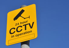 CCTV Warning Sign Royalty Free Stock Photography