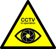 CCTV warning sign. Stock Photos