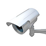 Cctv on white. 3d image of classic infrared cctv Royalty Free Stock Photos