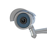 Cctv on white Stock Image