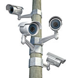 Cctv on white Stock Photo