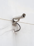 CCTV on white wall Royalty Free Stock Photo