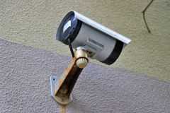 CCTV yttre videokamera, egenskap Survelliance arkivbild