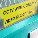 Cctv-Zeichen auf einem Fenster Lizenzfreies Stockfoto