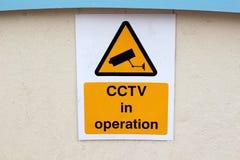 CCTV znak Fotografia Royalty Free