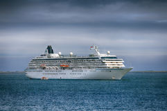 Ccuise liner Crystal Symphony in Waterford harbor. Royalty Free Stock Photos