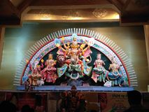 Cculpture Maa Durga стоковые изображения rf