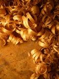 ccurly drewniane wióry Zdjęcia Royalty Free