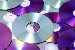 CD、CD-ROM和DVD 库存图片