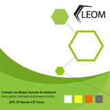 cd和书套的绿色和eco数字式题材 免版税库存图片
