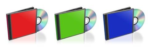 CD和案件 向量例证