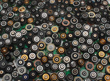 从cd和dvd驱动的许多无刷子的电动机 免版税图库摄影