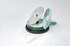 Cd或dvd圆盘纺锤 库存图片