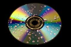 CD的下落水 免版税图库摄影