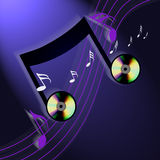 CD的互联网音乐 免版税库存照片